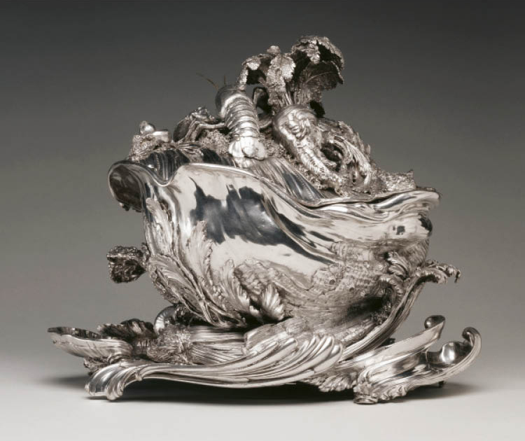 Juste-Aurèle Meissonnier (French, 1695–1750). Tureen and Platter, 1715–16. Silver. Leonard C. Hanna Jr. Fund 1977.182