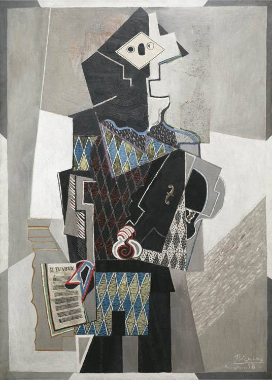 Pablo Picasso (Spanish, 1881–1973). Harlequin with Violin (Si Tu Veux), 1918. Oil on canvas. Leonard C. Hanna Jr. Fund 1975.2