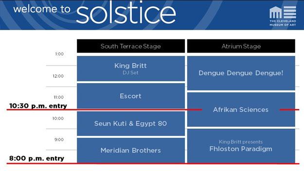 Solstice 2015 Schedule Grid