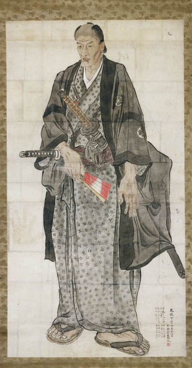 Watanabe Kazan (Japanese, 1793–1841). Portrait of Ozora Buzaemon, 1827. Hanging scroll; ink and color on paper. Leonard C. Hanna Jr. Fund 1980.177