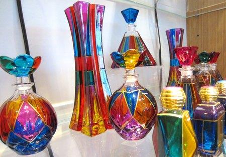 Tiffany Glass Bottles