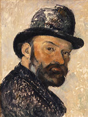 Self Portrait in a Bowler Hat, 1885-86 by Paul Cézanne. Ny Carlsberg Glyptotek, Copenhagen. Photo Ole Haupt