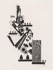 Tel & Tel, 1952. Louis Lozowick. The Cleveland Museum of Art, 2018.1080