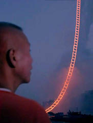 "Image from ""Sky Ladder: The Art of Cai Guo-Qiang."" Screening courtesy Netflix"