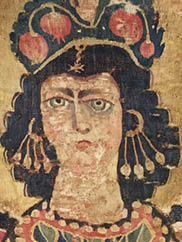 Hanging with Hestia Polyolbus (Giver of Blessings), Early Byzantine. First half of 6th Century. Wool. Washington, D.C., Dumbarton Oaks Museum