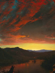 Twilight in the Wilderness (detail), 1860. Frederic Edwin Church (American, 1826–1900). Oil on canvas; 101.6 x 162.6 cm. The Cleveland Museum of Art, Mr. and Mrs. William H. Marlatt Fund 1965.233.