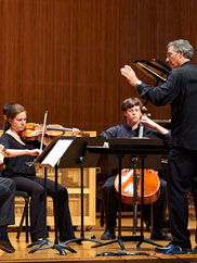 Oberlin Contemporary Music Ensemble. Photo by Roger Mastroianni.
