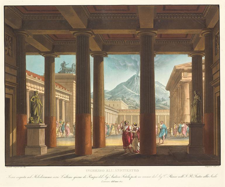 Entrance to the Amphitheater Designed by Alessandro Sanquirico Engraved by Carlo Sanquirico