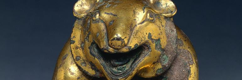 Mat Weight in the Form of a Bear (detail), 206 BC–AD 24. China, Western Han Dynasty. Gilt Bronze; 6-1/8 in. John L. Severence Fund 1994.203
