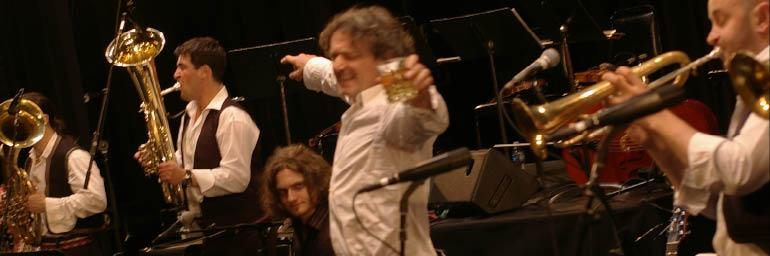 Goran Bregovic on stage with his Wedding and Funeral Orchestra, June 2009