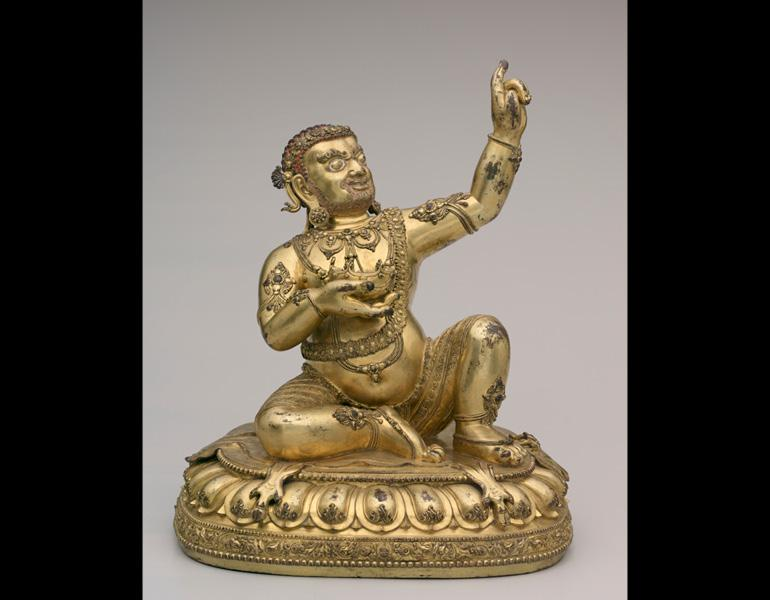 Virupa, 1403–24. China. Gilt bronze; h: 43.6 cm. Gift of Mary B. Lee, C. Bingham Blossom, Dudley S. Blossom III, Laurel B. Kovacik, and Elizabeth B. Blossom in memory of Elizabeth B. Blossom 1972.96
