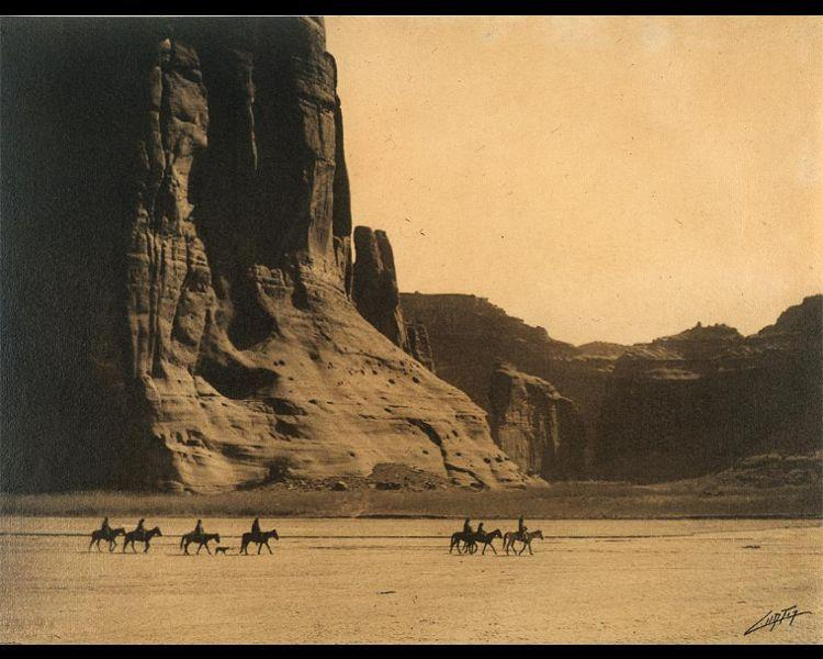 Curtis, Edward S. (American, 1868-1952). Cañon de Chelly — Navajo, 1904. Platinum print; 31.5 x 41.8 cm. Cleveland Museum of Art. Gift of Kathryn Arns May in memory of Mary Moore Arns. 1987.182
