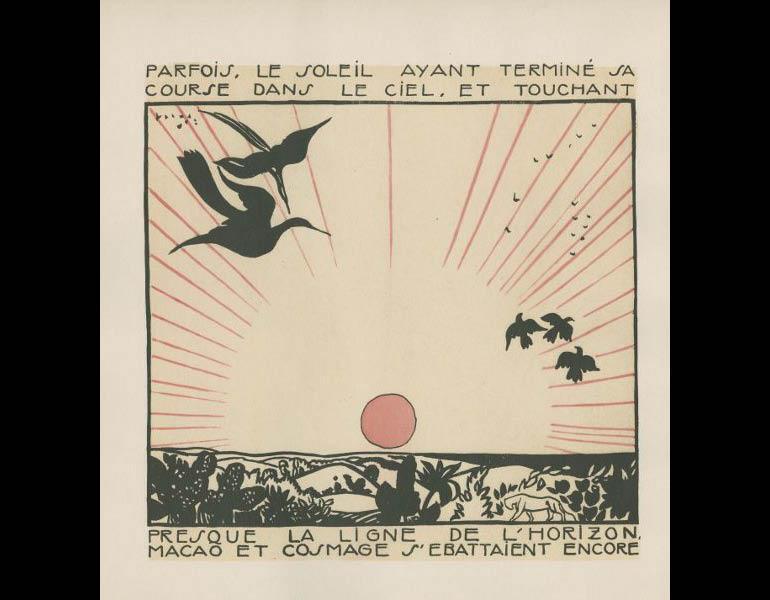 Legrand, E. (1919). Macao et Cosmage, ou l'experience du bonheu, 6. Paris: Nouvelle revue francaise. Gift of Irvin & Gormley, call number: PZ23 .L497 M33 1919