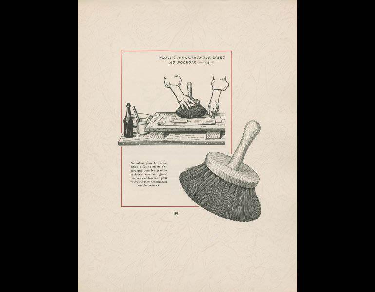 Saude, J. (1925). Traite d'enluminure d'art au pochoir, 59. Paris: Editions de l'Ibis. Susan Barber Woodhill Memorial Fund, call number: NE1850 .S3 1925