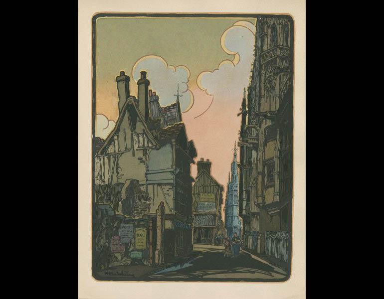 Saude, J. (1925). Traite d'enluminure d'art au pochoir, plate 11. Paris: Editions de l'Ibis. Susan Barber Woodhill Memorial Fund, call number: NE1850 .S3 1925