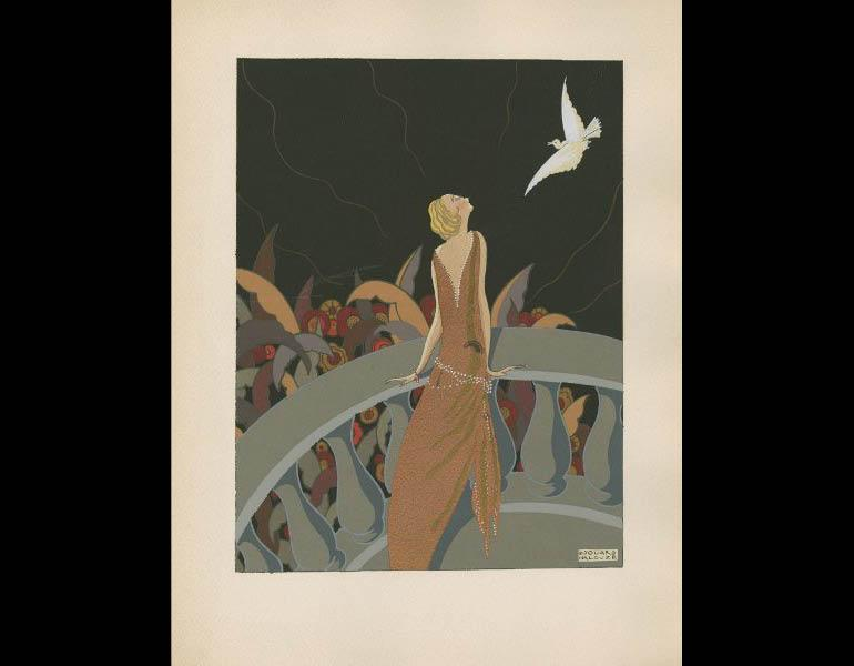 Saude, J. (1925). Traite d'enluminure d'art au pochoir, plate 13. Paris: Editions de l'Ibis. Susan Barber Woodhill Memorial Fund, call number: NE1850 .S3 1925
