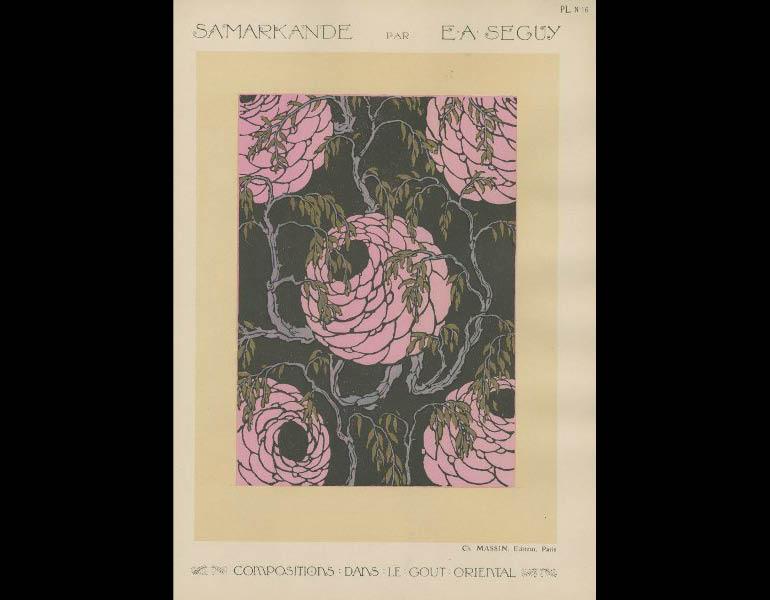 Seguy, E.A. (1020). Samarkande: 20 Compositions en couleurs dans le Style oriental, plate 16. Paris : Charles Massin. John Huntington Art & Polytechnic Trust, call number: NK1535 .S4 A56 1920z