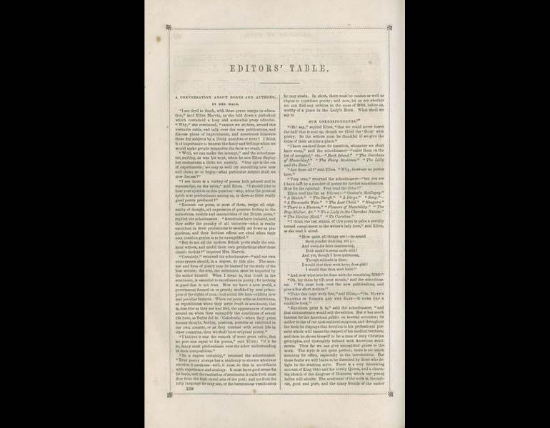 Godey's Lady's Book, XXIV, 238. (April 1842). Philadelphia: Louis A. Godey. Presented by Severance A. Milliken, call number: A20 G582, 1842-1844