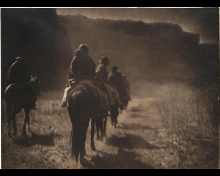 Curtis, Edward S. (American, 1868-1952). The Vanishing Race — Navaho, ca. 1904. Platinum print; 40 x 52.7 cm. Sterling and Francine Clark Art Institute. 1999.8