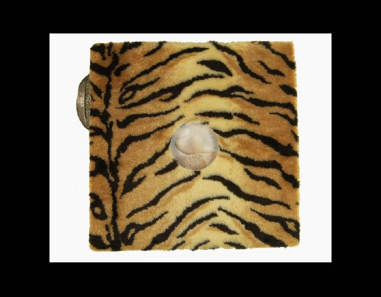 Urge, by artist Fons Schobbers, is bound in faux tiger fur with a bronze sculpture piece inscribed with the artist's name and attached to the spine. Call number: N6953.S36 A2 1993
