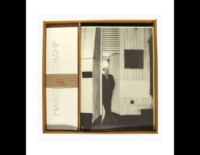 """Marcel Duchamp is a wooden box, described as Duchamp's """"mental"""" chessboard and used to depict his life-long love of the game and as subject matter for some of his important art pieces."""