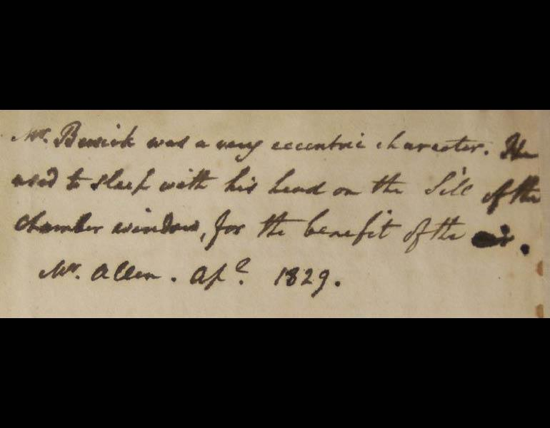 Inscription in the Ingalls Library's copy of British Birds: Vol 1, Land Birds