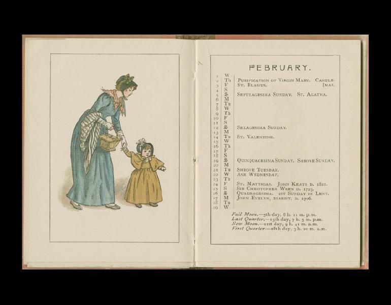 Almanac for 1928, February. IML 958982