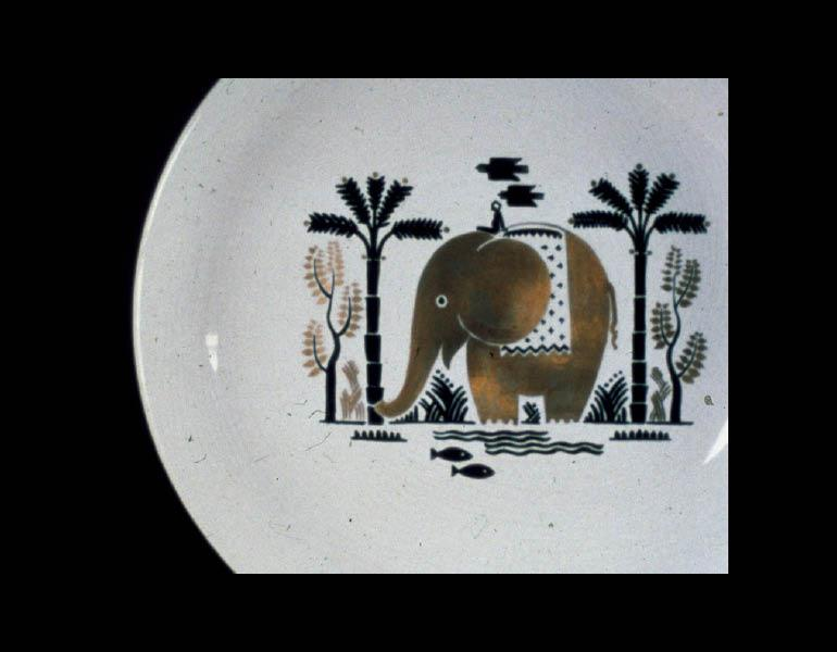 Viktor Schreckengost (American, 1906-2008). Son of India Plate, 1934. Ceramic. Gift of The Cleveland Art Association 1934.89