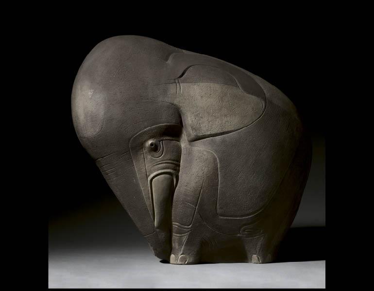 Viktor Schreckengost (American, 1906-2008). Pachyderm, 1951. Ceramic. Anonymous Gift 1959.126
