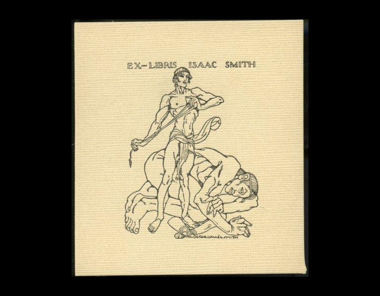 Bookplate of Isaac Smith, undated, by Senor Ismael Smith. Gift of Mrs. Whiting.