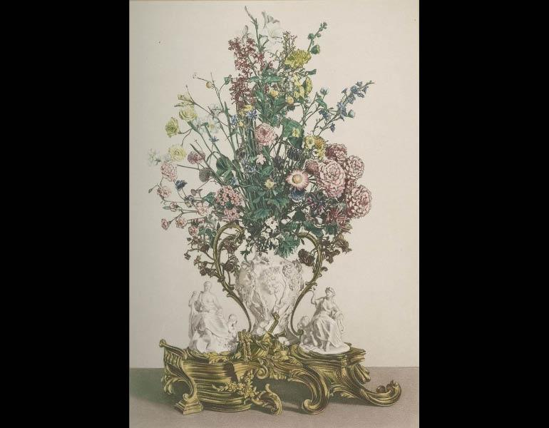 Vincennes soft-paste porcelain bouquet of flowers, Le Biscuit de Sèvres: Recueil des Modeles de la Manufacture de Sèvres au XVIIIe Siècle