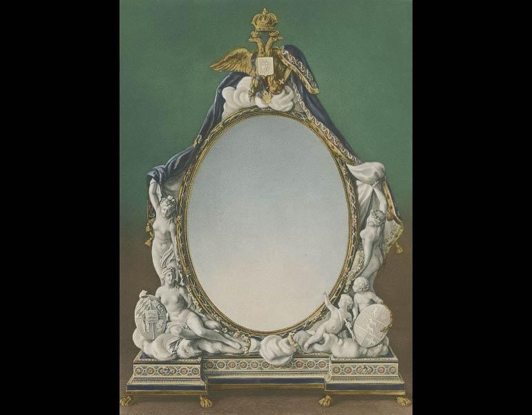 """Sèvres hard-paste Mirror, """"The Toilet of Venus,"""" 1781, Le Biscuit de Sèvres: Recueil des Modeles de la Manufacture de Sèvres au XVIIIe Siècle"""