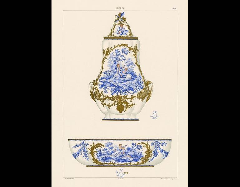 Sèvres fount and basin, La Porcelaine Tendre de Sèvres
