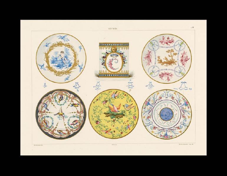 Typical Sèvres designs, La Porcelaine Tendre de Sèvres