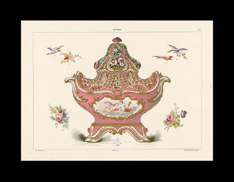 Sèvres potpourri vase, La Porcelaine Tendre de Sèvres