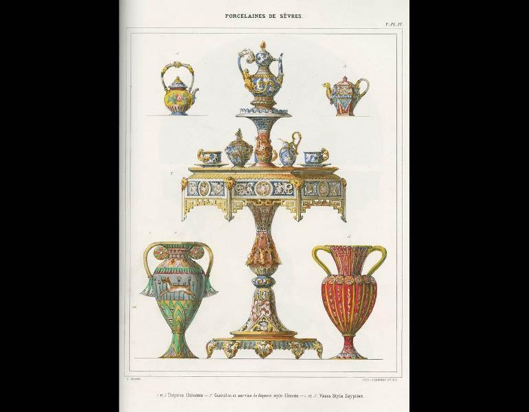 Sèvres porcelain in the Chinese and Egyptian styles, Description Methodique du Museé Céramique de la Manufacture Royale de Porcelaine de Sèvres