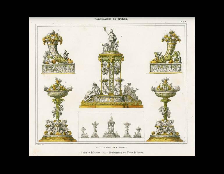 Sèvres table decorations by Fragonard, Description Methodique du Museé Céramique de la Manufacture Royale de Porcelaine de Sèvres