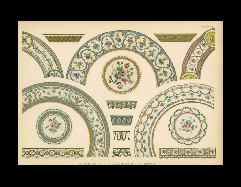 Design for plate borders, 1791-1792, Les Cartons de la Manufacture Nationale de Sèvres: Epoques Louis XVI et Empire...