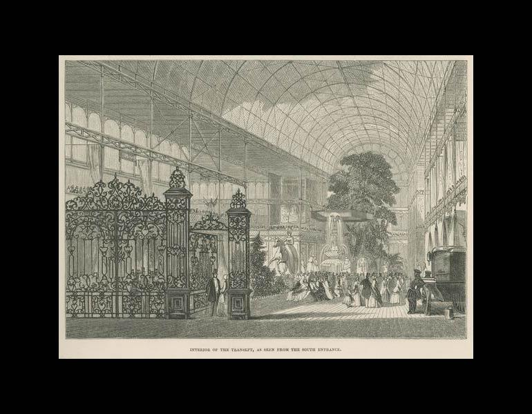 Interior of the Transept, as seen from the South Entrance. Art Journal Illustrated Catalogue... (1851-1852), p. xvi. IML 971857
