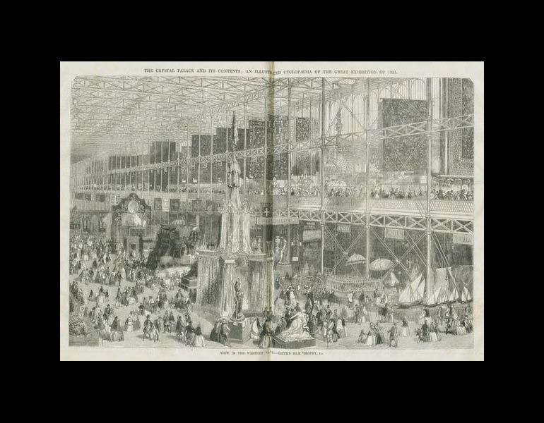 View in the Western Nave: Keith's silk trophy. The Crystal Palace and its Contents... pp. 312-313. IML 971865