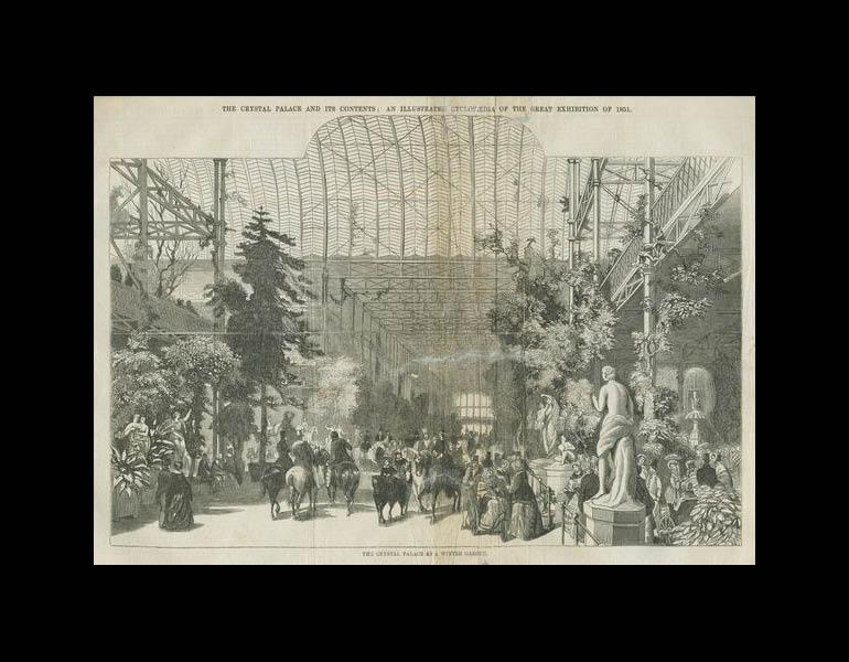 The Crystal Palace as a winter garden. The Crystal Palace and its Contents... pp. 264-265. IML 971863
