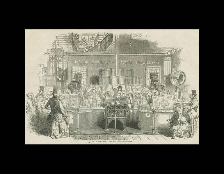 LaRue's Stall and envelope machinery. The Crystal Palace and its Contents... p. 292. IML 971862