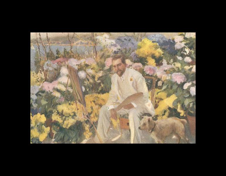 Mr. Tiffany Among the Flowers, painted by Sorolla, 1911 (frontispiece).