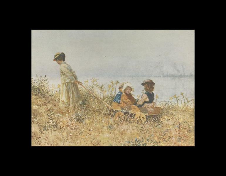 In the Fields at Irvington, painted in 1879 (page 8C).
