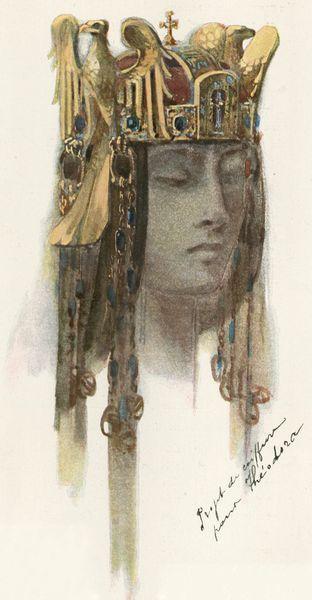 """Projet de coiffure pour Théodora, p. 186.. Geffroy, Gustave. """"De Bijou: A Propos de M. René Lalique."""" Art et Décoration: Revue Mensuelle D'Art Moderne. Vol. XVIII. July - December 1905."""