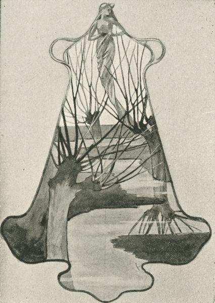 """Dessin de pendant, p. 20. Marx, Roger. """"René Lalique: Le Maitres Décorateurs Français."""" Art et Décoration: Revue Mensuelle D'Art Moderne. Vol. V, January - June 1899."""