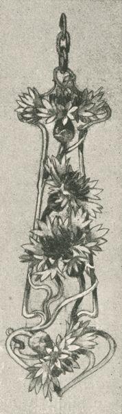 """Dessin de pendant, p. 20. """"René Lalique: Le Maitres Décorateurs Français."""" Art et Décoration: Revue Mensuelle D'Art Moderne. Vol. V, January - June 1899."""