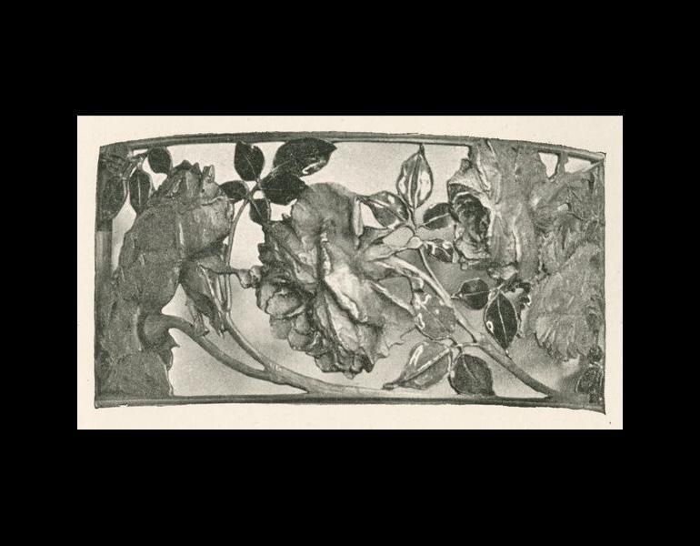 """Devant de collier, p. 21. Marx, Roger. """"René Lalique: Le Maitres Décorateurs Français."""" Art et Décoration: Revue Mensuelle D'Art Moderne. Vol. V. January - June 1899."""