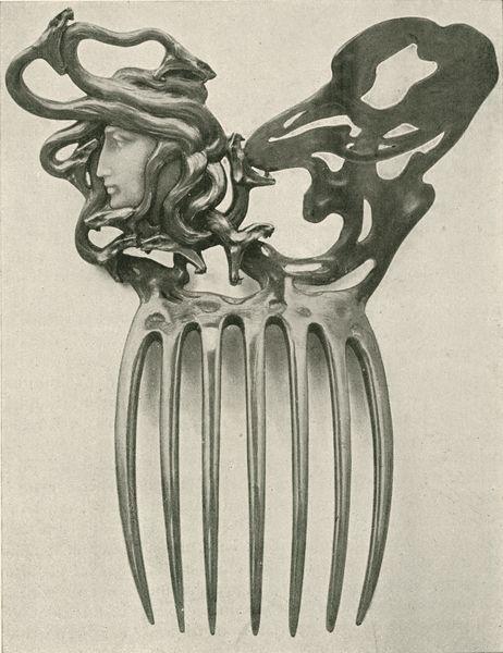 """Peigne, p. 14. Marx, Roger. """"René Lalique: Le Maitres Décorateurs Français."""" Art et Décoration: Revue Mensuelle D'Art Moderne. Vol. V. January - June 1899."""