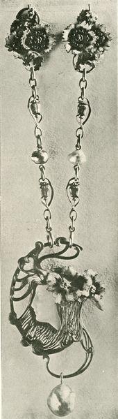 """Pendant et chaine, p. 15. Marx, Roger. """"René Lalique: Le Maitres Décorateurs Français."""" Art et Décoration: Revue Mensuelle D'Art Moderne. Vol. V. January - June 1899."""